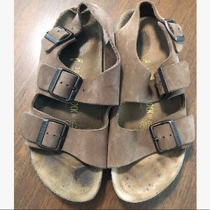 Brown Birkenstock's size 38 with back strap